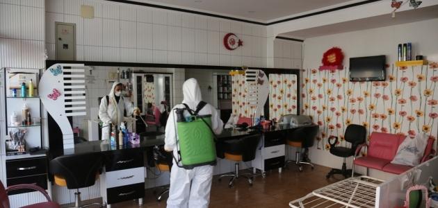 Ereğli'de kuaförlere ücretsiz dezenfekte
