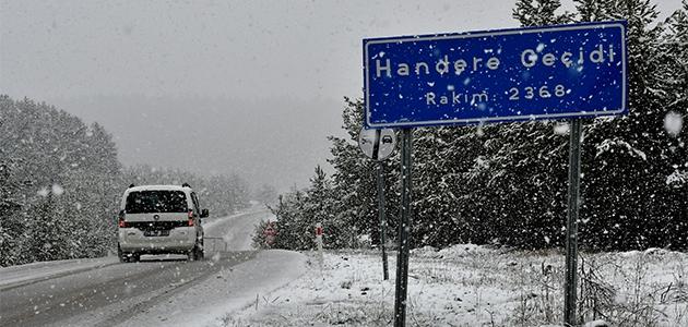 Erzurum ve Kars'ta lapa lapa kar yağdı
