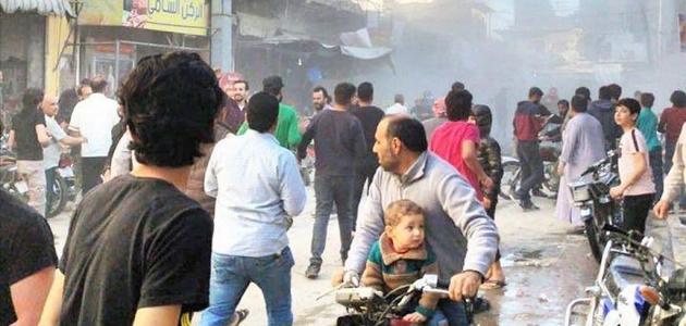Bab'da iftar vakti bombalı terör saldırısı: 11 yaralı