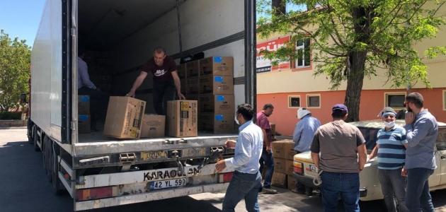 Çilek üreticisi 424 kişi fidelerini teslim aldı