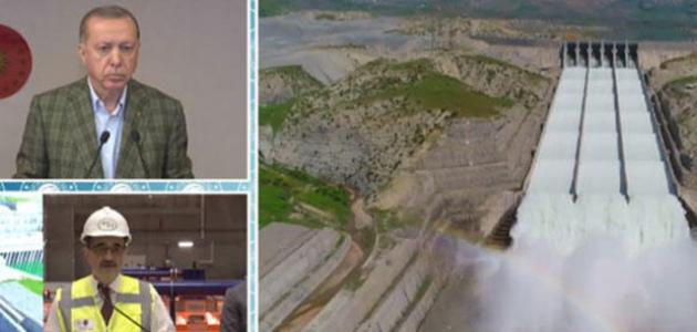 Ilısu Barajı'nda üretim başladı