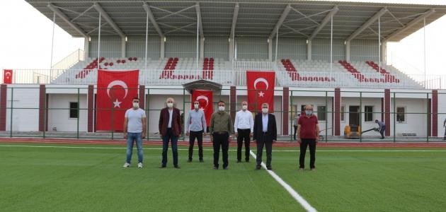 Kulu'da yeni spor kompleksinde İstiklal Marşı coşkuyla okundu