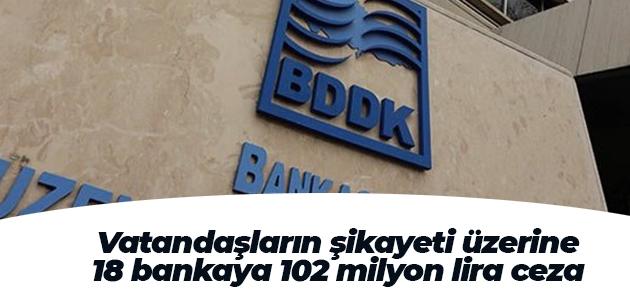 Vatandaşların şikayeti üzerine 18 bankaya 102 milyon lira ceza