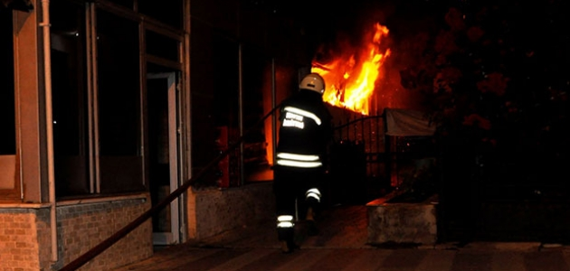 Konya'da restoranda korkutan yangın