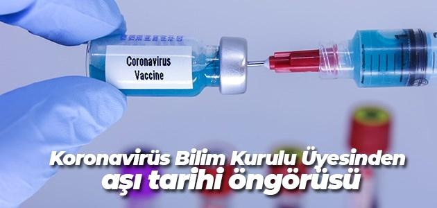 Koronavirüs Bilim Kurulu Üyesinden aşı tarihi öngörüsü