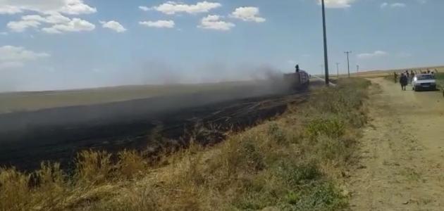 Kulu'da üç bölgede anız yangını