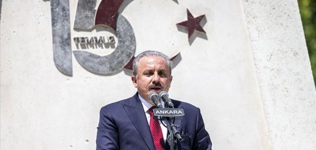 TBMM Başkanı Şentop: Bu anıt zulüm ateşini kanlarıyla söndüren kahramanların hatırasına dikilmiştir
