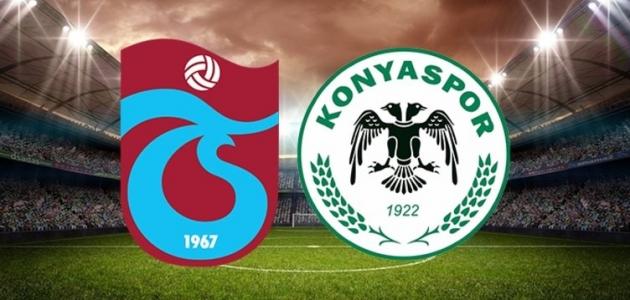 Konyaspor- Trabzonspor ilk 11'ler belli oldu