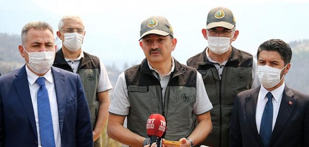 Bakan Pakdemirli'den, Adana'daki orman yangınına ilişkin açıklama