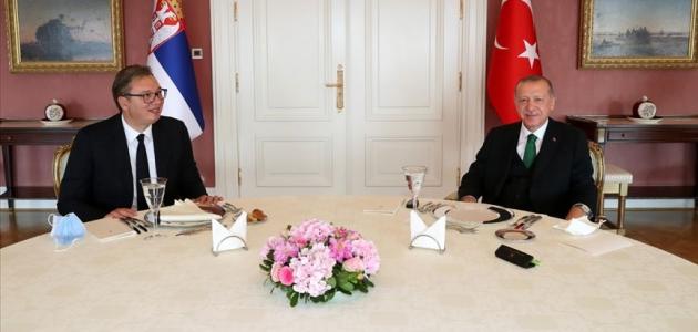 Cumhurbaşkanı Erdoğan, Sırbistan Cumhurbaşkanı'nı kabul etti