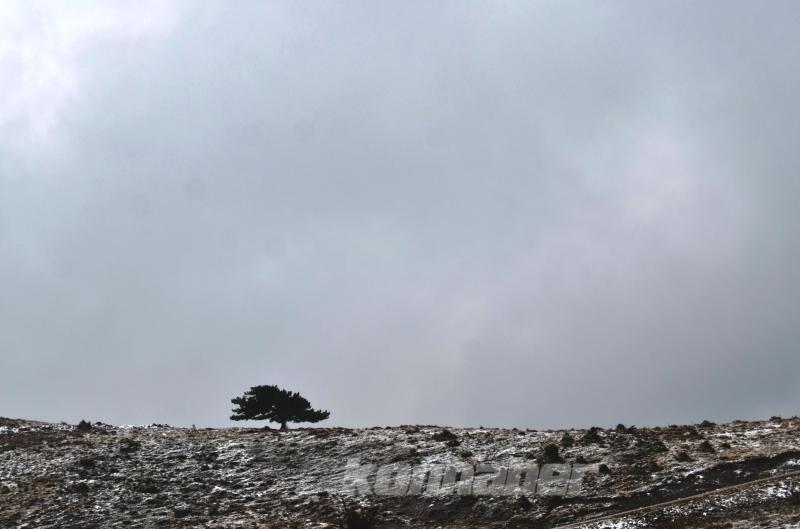 Konya'da kar yağışı ve sis sonbahar renkleriyle güzel görüntüler oluşturdu
