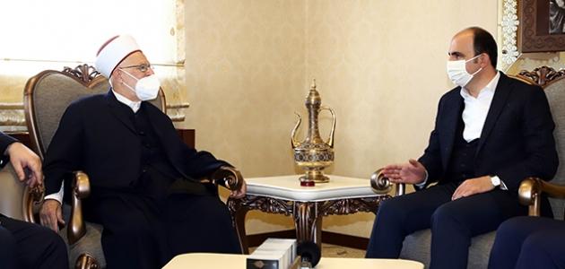 Mescid-i Aksa İmam Hatibi Başkan Altay'ı ziyaret etti