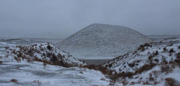 Meke Gölü beyaza büründü