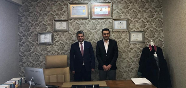 Başkan Erdal'dan avukat Ömer Şahin'e ziyaret
