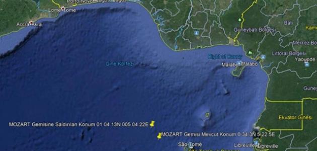 Saldırıya uğrayan Türk gemisi, Gabon Port-Gentil Limanı'na hareket etti
