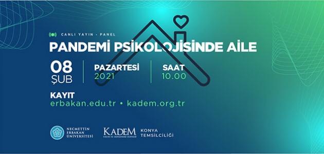 """NEÜ ve KADEM'den """"Pandemi Psikolojisinde Aile"""" Paneli"""