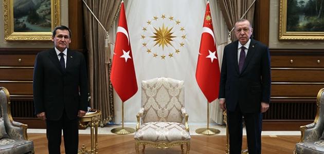 Cumhurbaşkanı Erdoğan, Türkmenistan Dışişleri Bakanı Meredow'u kabul etti