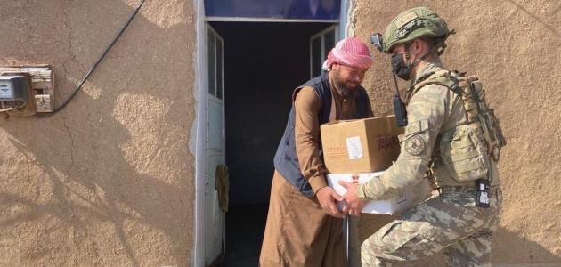 MSB'den Barış Pınarı bölgesi halkına insani yardım