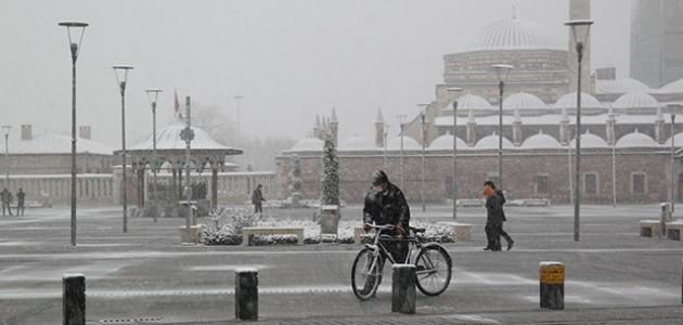 Konya'da yoğun kar yağışı bekleniyor