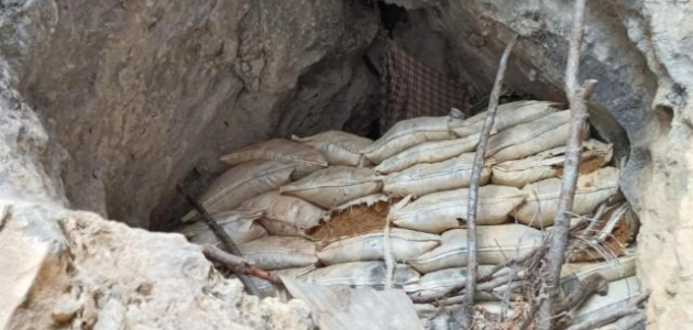 Teröristlerin kullandığı 3 mağara imha edildi