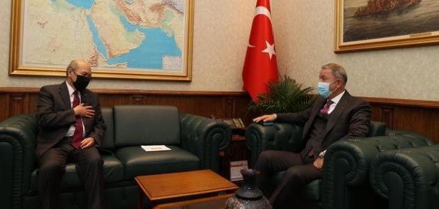 Bakan Akar, Moğolistan Büyükelçisi Ravdan ile görüştü