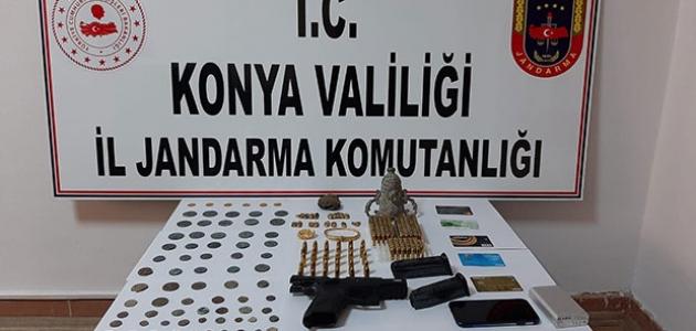 Konya'da tarihi eser operasyonu: 5 gözaltı