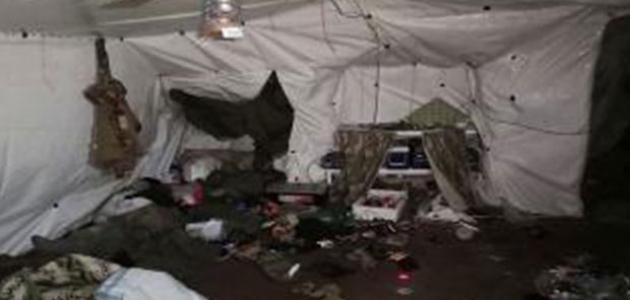 Irak'ın kuzeyinde 14 odalı terör mağarası imha edildi