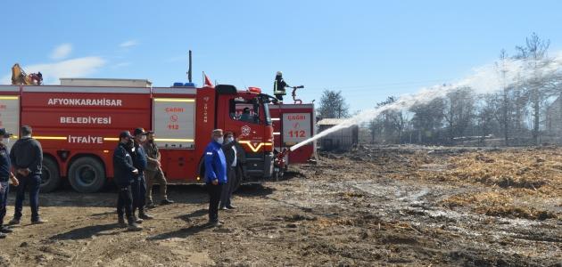 Pelet yakıtı üretilen tesiste çıkan yangın söndürüldü