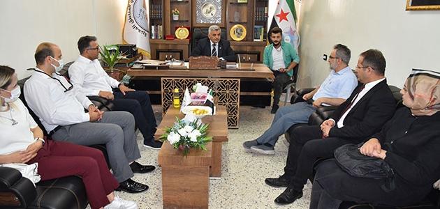 Rektör Prof. Dr. Aksoy, Suriye'de çeşitli temaslarda bulundu