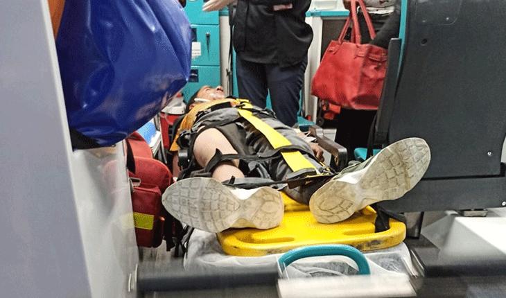Eşeğe bağlı iple sürüklenen çocuk yaralandı