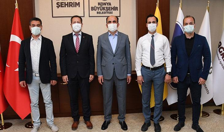 HKMO Konya'dan Başkan Altay'a ziyaret