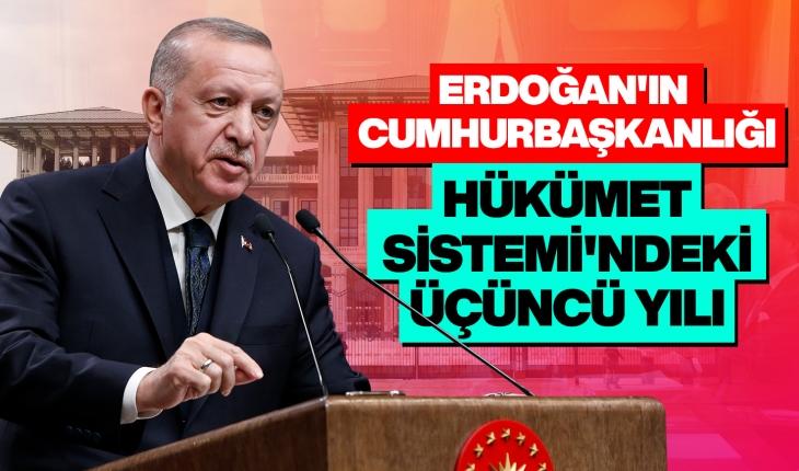 Erdoğan'ın Cumhurbaşkanlığı Hükümet Sistemi'ndeki üçüncü yılı