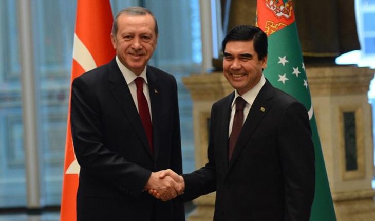 Cumhurbaşkanı Erdoğan Türkmenistanlı mevkidaşı ile görüştü