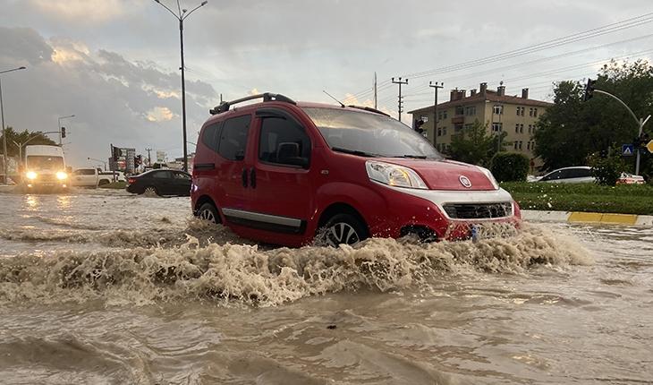 Edirne'de dolu ve sağanak