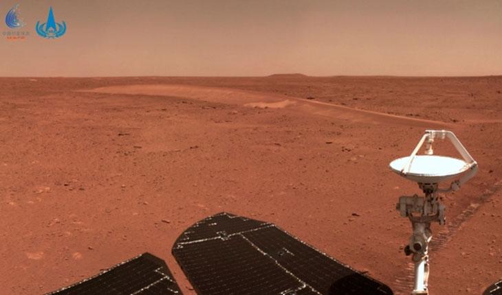 """Çin'in keşif aracından yeni """"Mars"""" görüntüleri"""