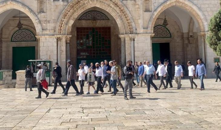 119 fanatik Yahudi Mescid-i Aksa'ya baskın düzenledi