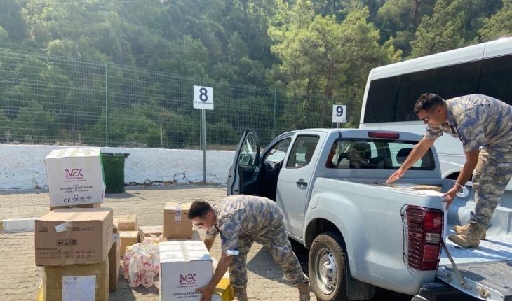 Mehmetçik, yangın alanlarına müdahaleye ve vatandaşlara yardıma devam ediyor