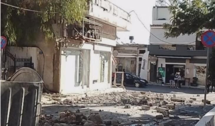Girit Adası'nda 5,7 büyüklüğünde deprem