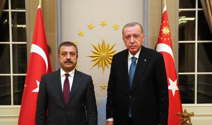 Cumhurbaşkanı Erdoğan, TCMB Başkanı Kavcıoğlu'nu kabul etti