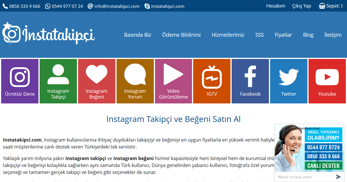 instatakipci youtube video indir